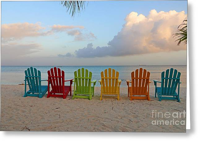 Aruba Sunrise 0746a Greeting Card