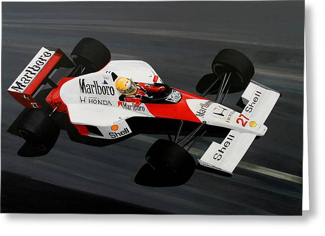 Aryton Senna Greeting Card