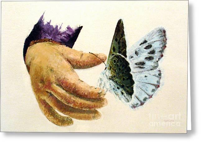 As Delicate As A Butterfly  Greeting Card by Tatjana Popovska