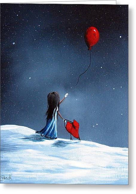 As Her Heart Breaks By Shawna Erback Greeting Card