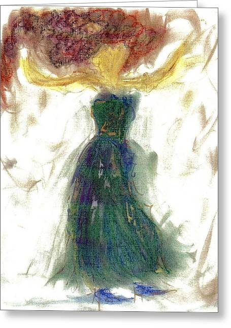 Greeting Card featuring the painting as if Dancing in Heaven by Lesley Fletcher