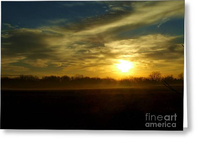 As Mist Rises IIi Greeting Card