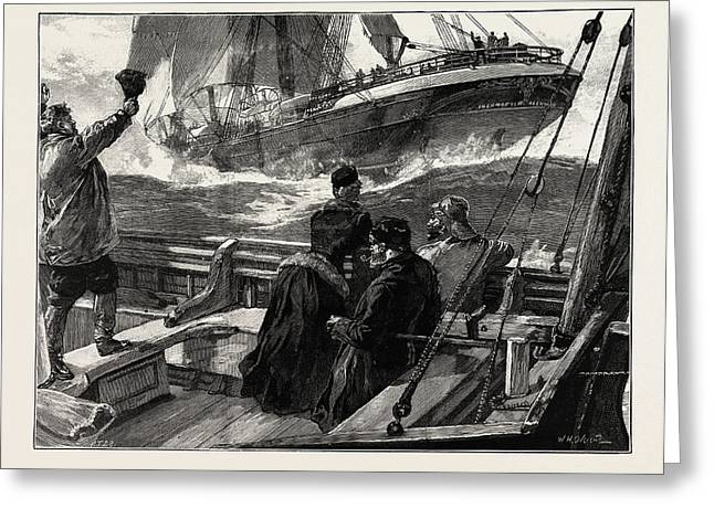 As The Clipper Stormed Greeting Card