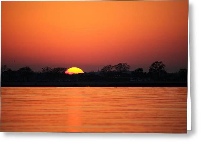 As The Sun Goes Down  Greeting Card by Karol Livote