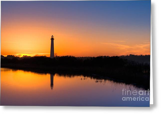 As The Sun Sets And The Water Reflects Greeting Card