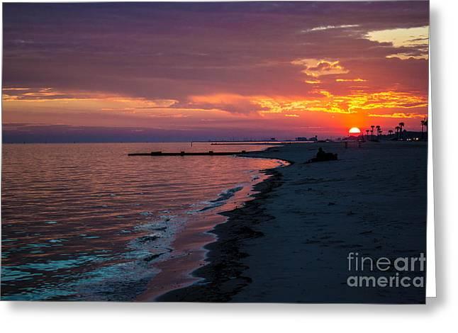 As The Sun Sets Greeting Card by Maddalena McDonald