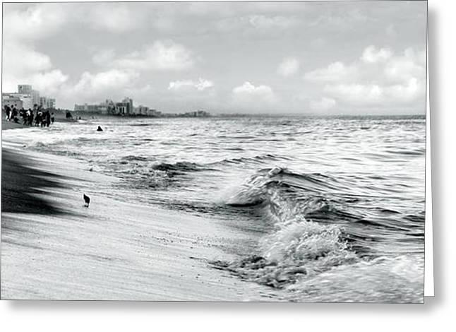 As The Tide Rolls In Greeting Card by Cher Ferroggiaro