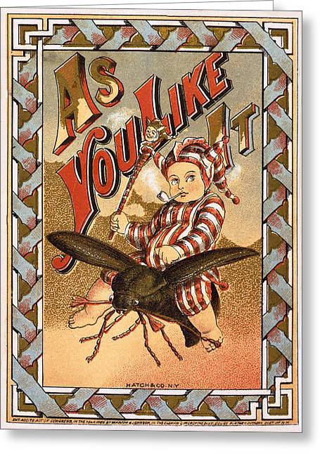As You Like It Vintage Label Greeting Card