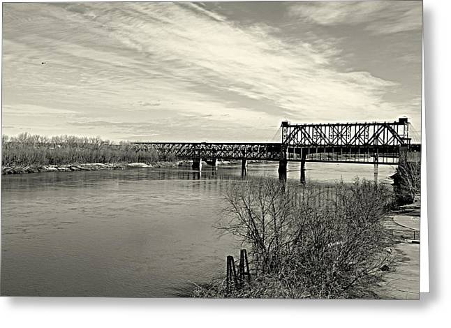 Asb Bridge Over The Missouri River Greeting Card