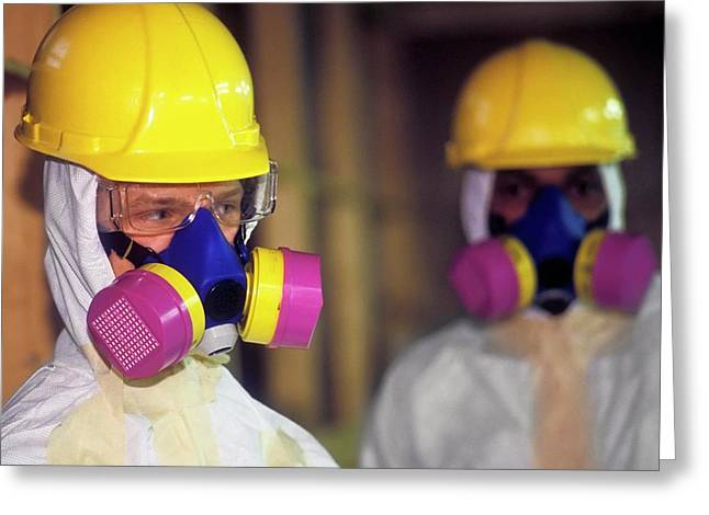 Asbestos Removal Training Greeting Card by Jim West