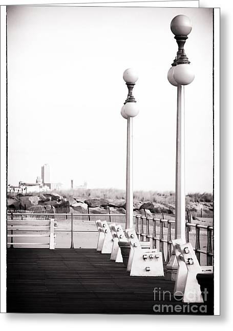 Asbury In The Distance Greeting Card by John Rizzuto