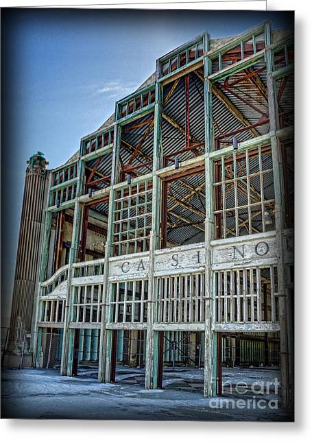 Asbury Park Casino And Carousel House Greeting Card by Lee Dos Santos