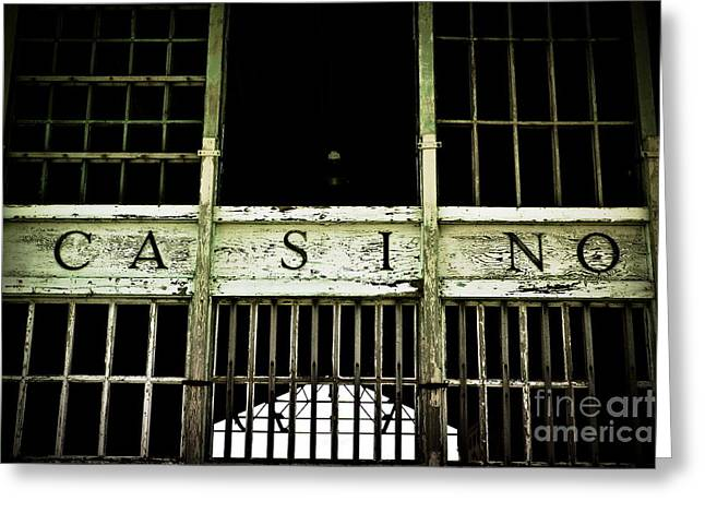 Asbury Park Casino Greeting Card by Colleen Kammerer