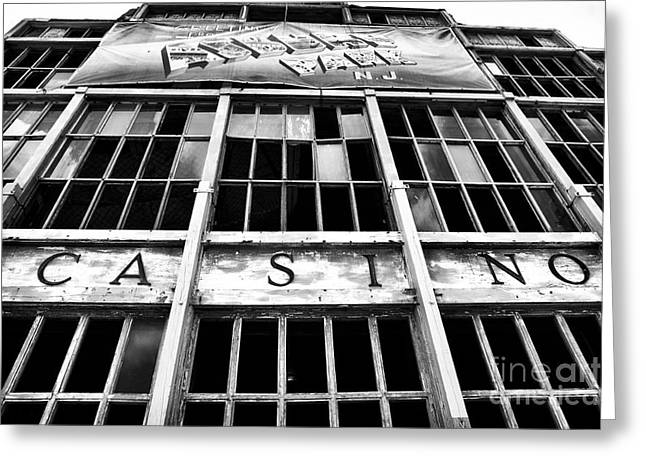 Asbury Park Casino Greeting Card by John Rizzuto
