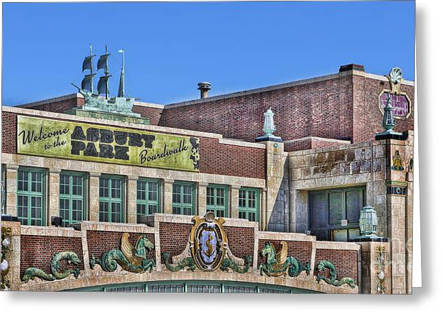 Greeting Card featuring the photograph Asbury Park Convention Hall And Paramount Theatre  by Lee Dos Santos