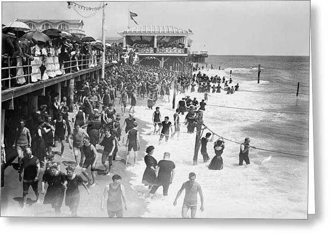 Asbury Park - New Jersey - 1908 Greeting Card by Daniel Hagerman