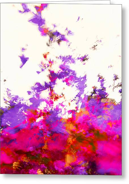 Greeting Card featuring the photograph Ascending Floral Abstract by Paul Cutright