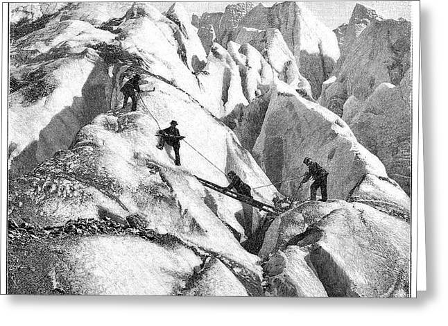 Ascent Of Mont Blanc Greeting Card by Science Photo Library
