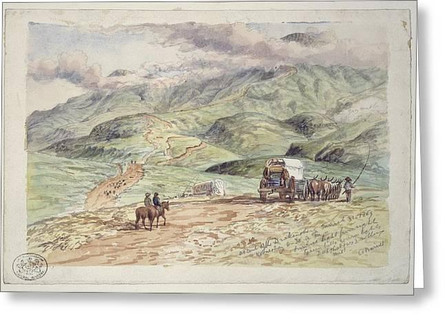 Ascent Of The Drakensberg, Artwork Greeting Card