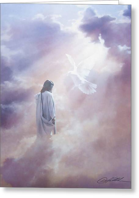 Ascension Greeting Card by Danny Hahlbohm