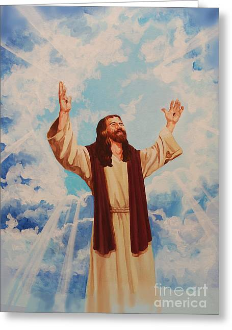 Ascention Of Jesus Greeting Card by Heidi E  Nelson