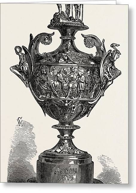 Ascot Race Plate The Ascot Cup Greeting Card by English School