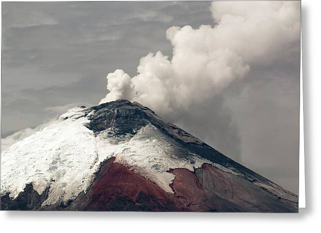 Ash Plume Rising From Cotopaxi Volcano Greeting Card
