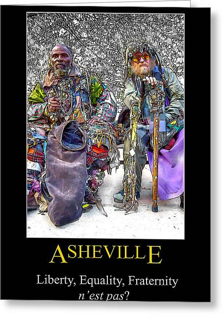 Asheville Equality Poster Greeting Card
