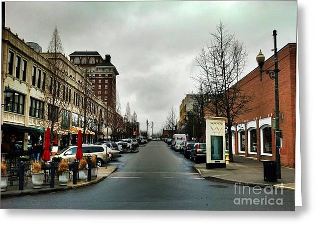 Asheville North Carolina Greeting Card by Janice Spivey