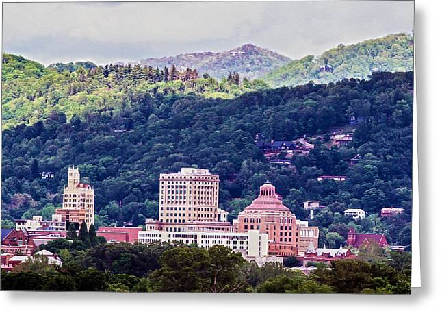 Asheville Painted Greeting Card by John Haldane