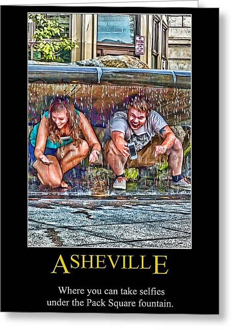 Asheville Selfies Poster Greeting Card