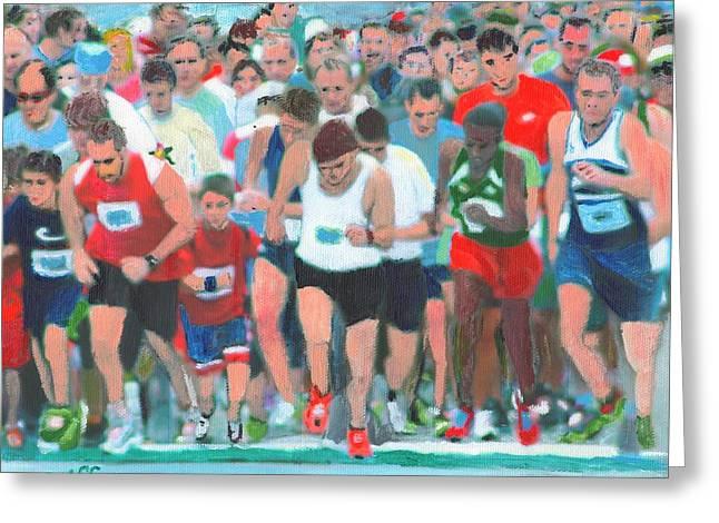 Ashland Half Marathon Greeting Card by Cliff Wilson