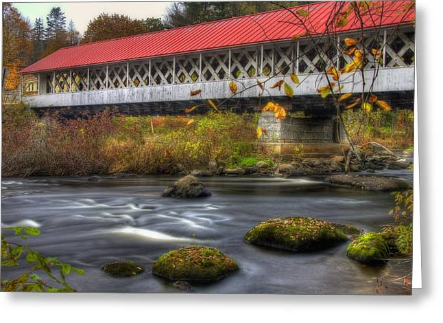 Ashuelot Covered Bridge 3 Greeting Card by Joann Vitali