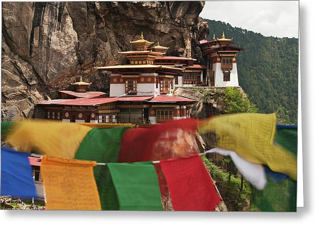 Asia, Bhutan Prayer Flags Flap Greeting Card by Jaynes Gallery