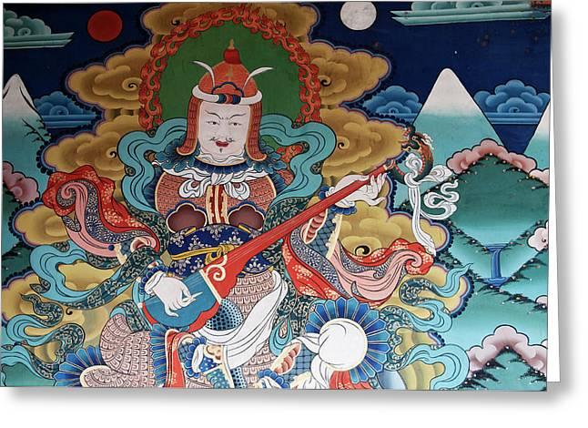Asia, Bhutan, Punakha Greeting Card