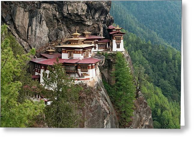 Asia, Bhutan Taktshang Or Tiger's Nest Greeting Card by Jaynes Gallery