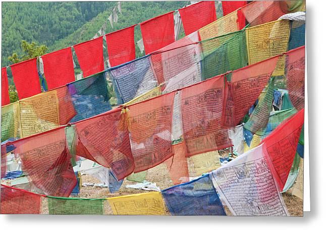 Asia, Bhutan, Thimphu Greeting Card by Jaynes Gallery