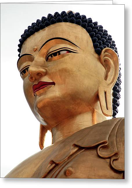 Asia, Bhutan Thimphu The Buddha Greeting Card by Kymri Wilt