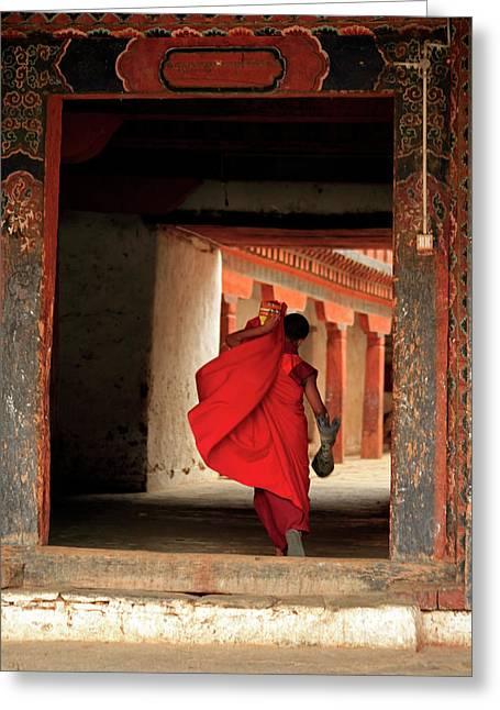 Asia, Bhutan, Wangdue Greeting Card by Kymri Wilt