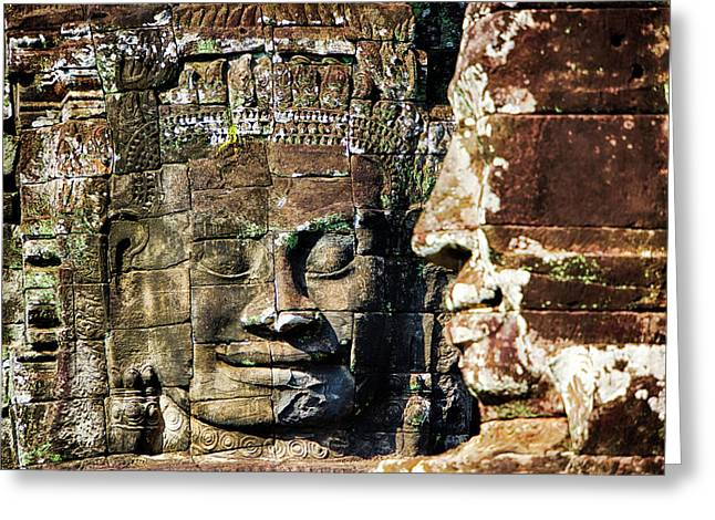 Asia, Cambodia, Angkor Watt, Siem Reap Greeting Card