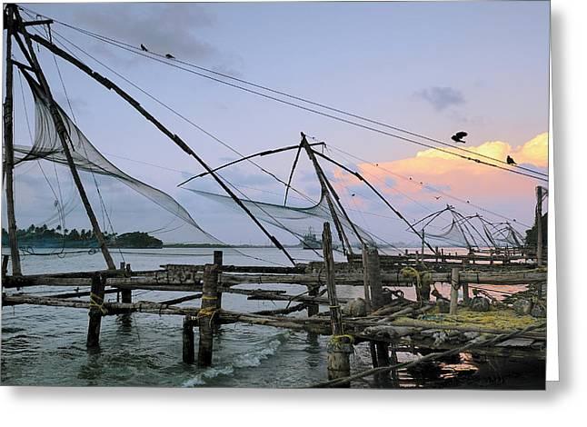 Asia, India, Kerala, Kochi (cochin Greeting Card by Steve Roxbury