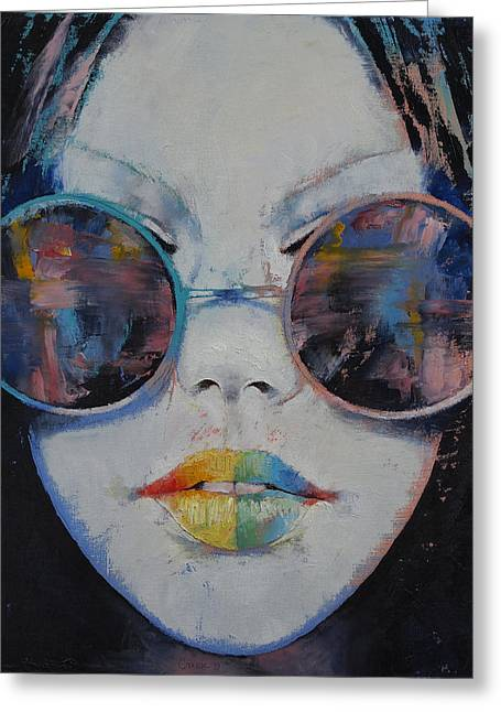 Asia Greeting Card by Michael Creese