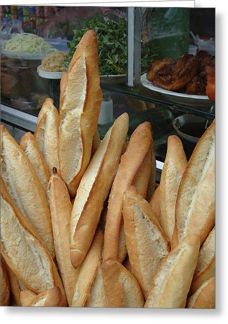 Asia, Vietnam Baguettes For Sale Greeting Card by Kevin Oke
