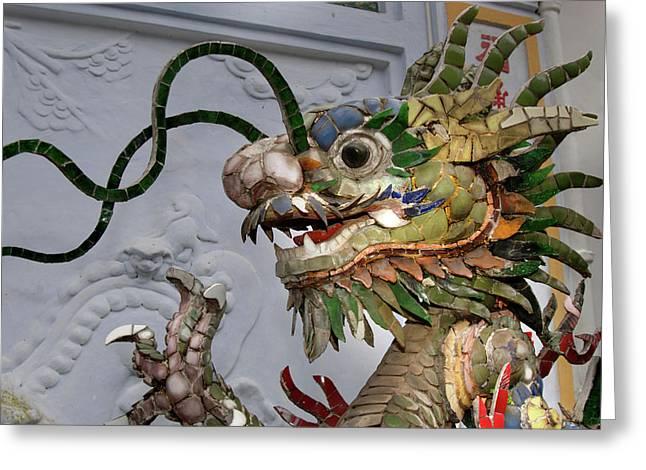 Asia, Vietnam Ceramic Naga, Phouc Kien Greeting Card by Kevin Oke