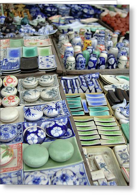 Asia, Vietnam Ceramics For Sale, Hoi Greeting Card by Kevin Oke