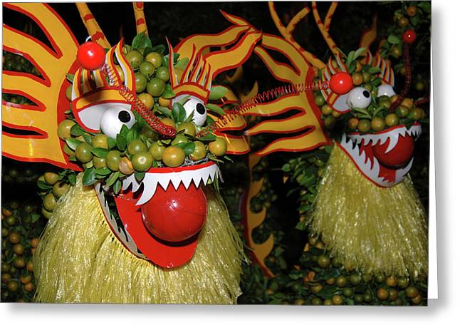 Asia, Vietnam Nagas Made With Oranges Greeting Card by Kevin Oke