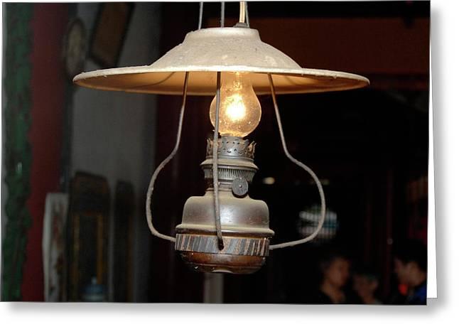 Asia, Vietnam Old Kerosene Lamp Greeting Card by Kevin Oke
