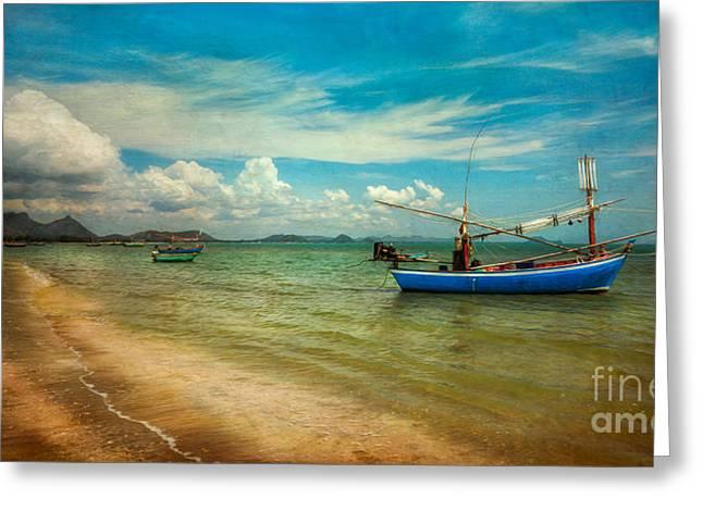 Asian Beach Greeting Card by Adrian Evans