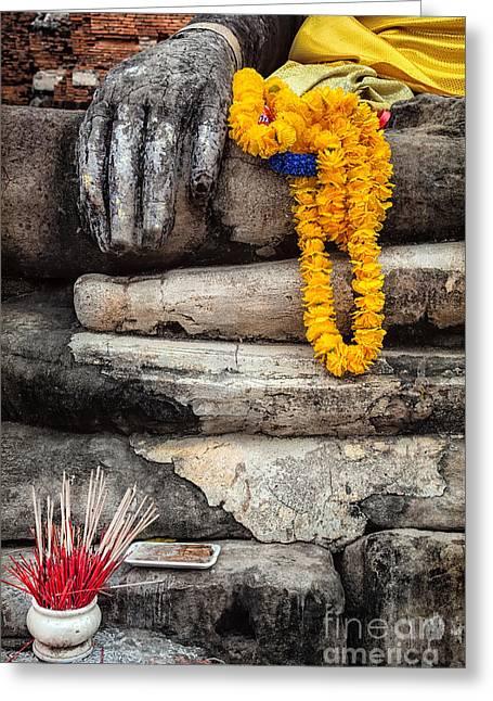 Asian Buddhism Greeting Card