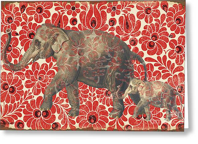 Asian Elephant-jp2185 Greeting Card by Jean Plout